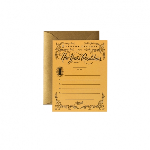 [Rifle Paper Co.] New Years Resolution Constitution Card
