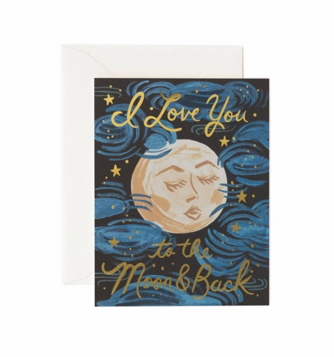 [Rifle Paper Co.] To the Moon and Back Card