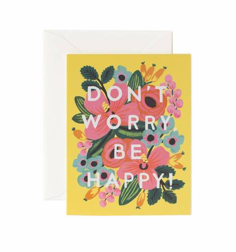 [Rifle Paper Co.] Don't Worry be Happy Card