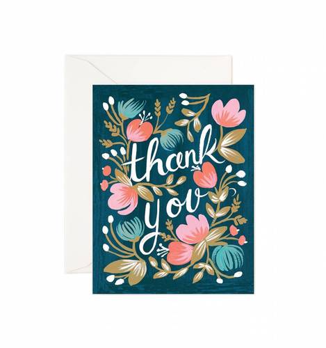 [Rifle Paper Co.] Midnight Garden Thank You Card
