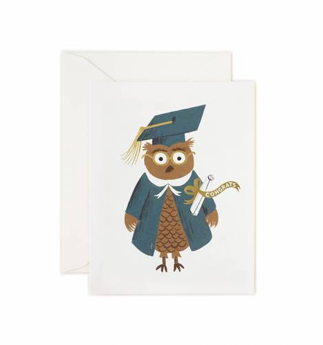 [Rifle Paper Co.] Congrats Owl Card