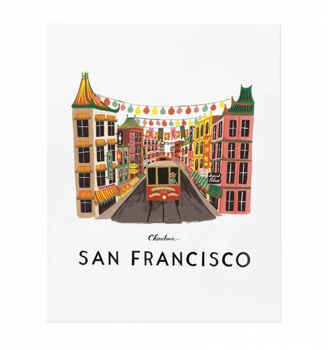 [Rifle Paper Co.] San Francisco 11 x 14