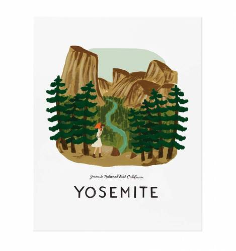 [Rifle Paper Co.] Yosemite 11 x 14""