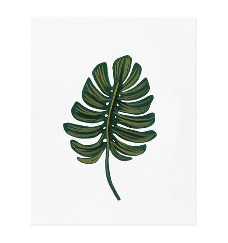 [Rifle Paper Co.] Monstera Leaf 8 x 10""