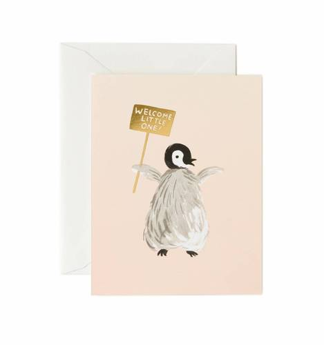 [Rifle Paper Co.] Welcome Penguin Card