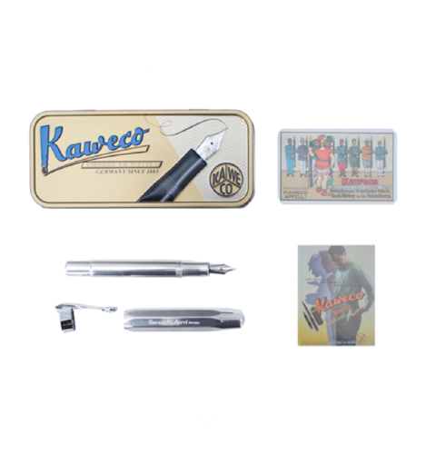 [Kaweco] AL Sport Fountain Pen Raw Silver EF (0.5mm)
