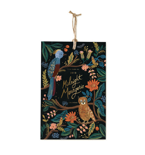 [Rifle Paper Co.] 2018 Midnight Menagerie Calendar