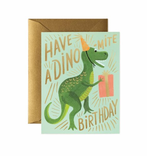 [Rifle Paper Co.] Dino-mite Birthday Card
