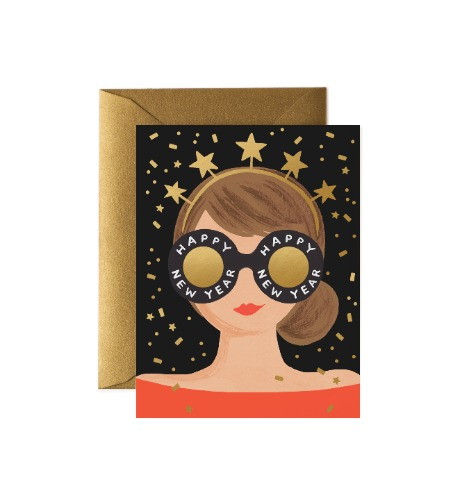 [Rifle Paper Co.] New Year Girl Card
