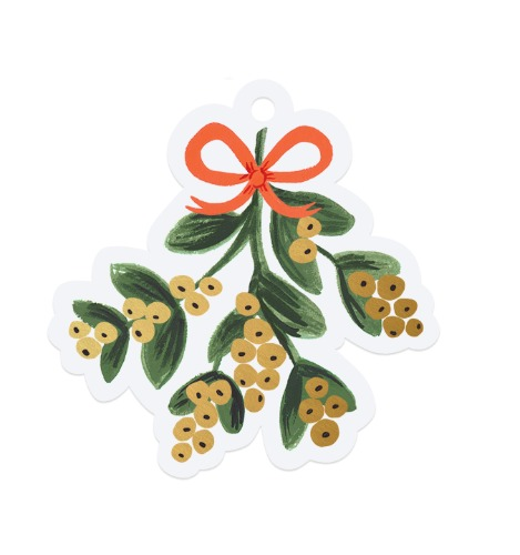 [Rifle Paper Co.] Mistletoe Die-Cut Gift Tag