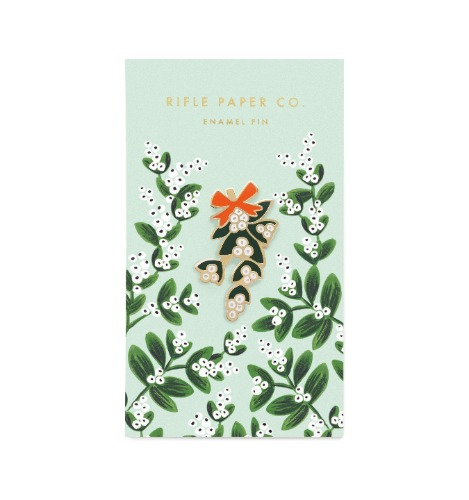 [Rifle Paper Co.] Mistletoe Enamel Pin