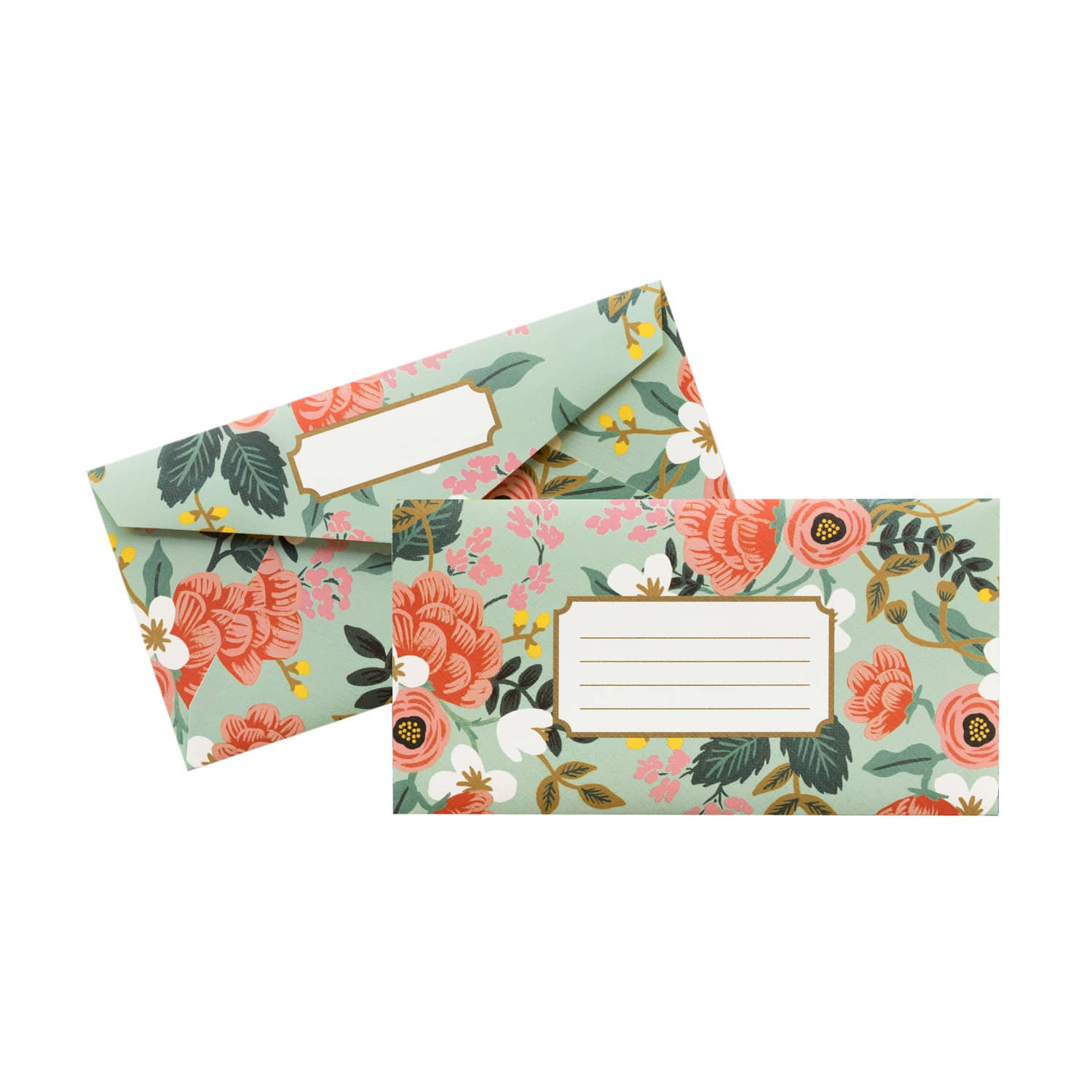 [Rifle Paper Co.] Mint Birch Monarch Envelope set of 5