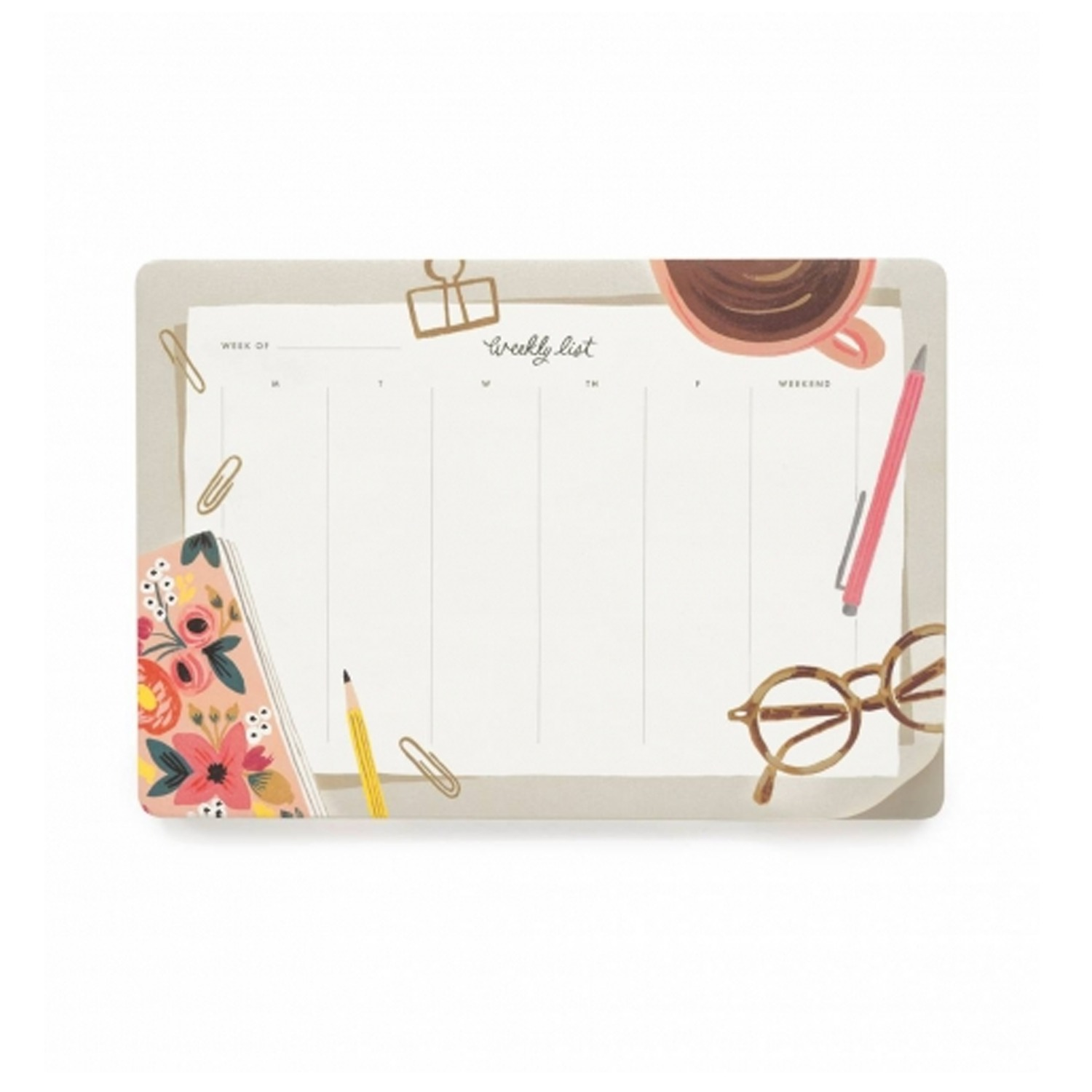 [Rifle Paper Co.] Desktop Weekly Desk Pad
