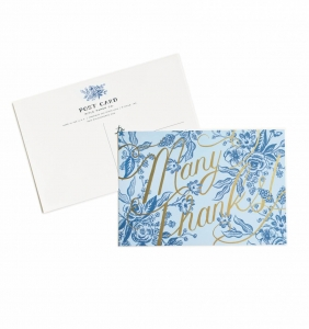 [Rifle Paper Co.] Toile Thank You Postcards [10 postcards]