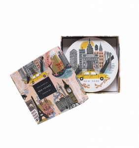 [Rifle Paper Co.] Cities Coaster Set [8 coasters/ 4 design]