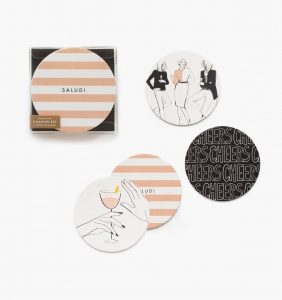 [Rifle Paper Co.] Cheers! Coaster Set [8 coasters/ 4 design] by Garance Doré