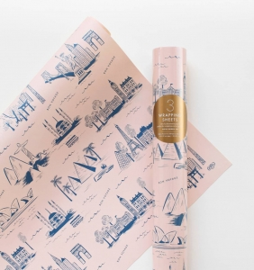 [Rifle Paper Co.] City Toile Wrapping Sheets [3 sheets]
