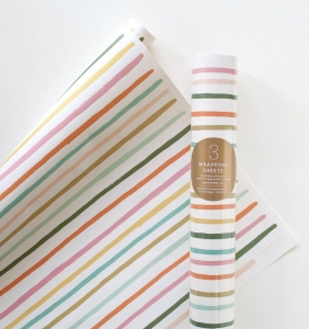 [Rifle Paper Co.] Happy Stripe Wrapping Sheets [3 sheets]