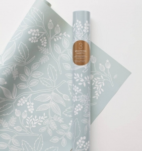 [Rifle Paper Co.] Spearmint Blossoms Wrapping Sheets [3 sheets]
