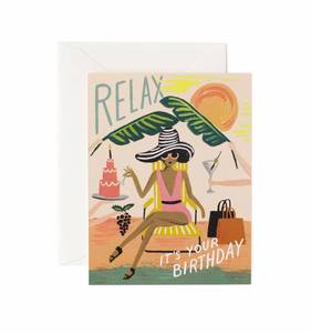 [Rifle Paper Co.] Relax Birthday Card