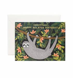 [Rifle Paper Co.] Sloth Belated Birthday Card