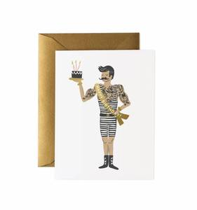 [Rifle Paper Co.] Strongman Birthday Card