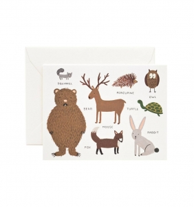 [Rifle Paper Co.] Animal Chart Card
