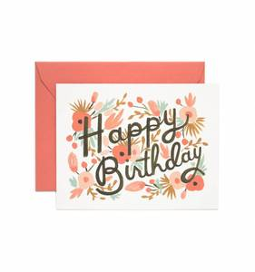 [Rifle Paper Co.] Floral Burst Birthday Card