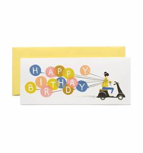 [Rifle Paper Co.] Birthday Scooter No.10 Card