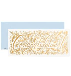 [Rifle Paper Co.] Champagne Floral Congrats No.10 Card