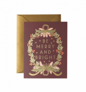 [Rifle Paper Co.] Be Merry and Bright Wreath Card