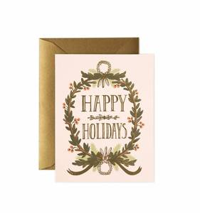 [Rifle Paper Co.] Gold Foil Garland Card