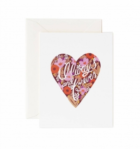 [Rifle Paper Co.] Always and Forever Heart Card