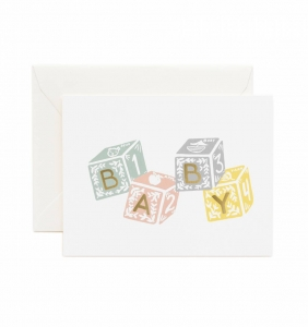 [Rifle Paper Co.] Baby Blocks Card