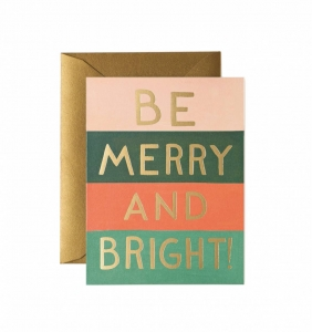 [Rifle Paper Co.] Be Merry and Bright Color Block Card