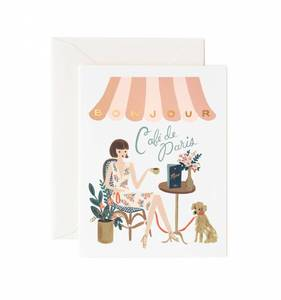 [Rifle Paper Co.] Bonjour Café Card