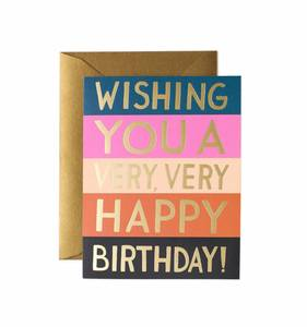 [Rifle Paper Co.] Color Block Birthday Card
