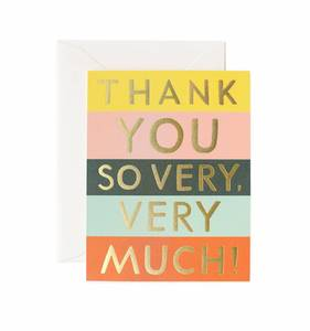 [Rifle Paper Co.] Color Block Thank You Card