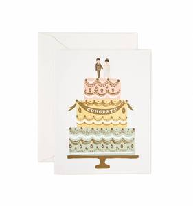[Rifle Paper Co.] Congrats Wedding Cake Card