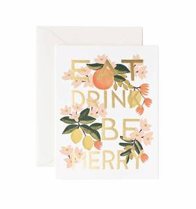 [Rifle Paper Co.] Eat Drink & Be Merry Card