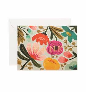 [Rifle Paper Co.] Gold Floral Thank You Card