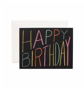 [Rifle Paper Co.] Happy Birthday Crayon Card
