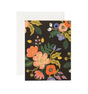 [Rifle Paper Co.] Lively Floral Black Card