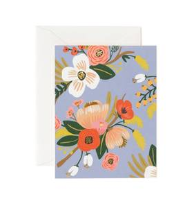 [Rifle Paper Co.] Lively Floral Periwinkle Card