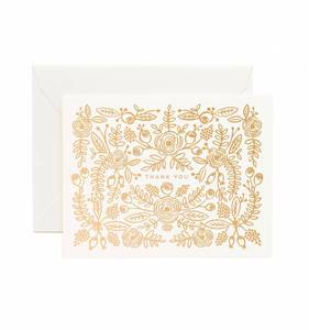 [Rifle Paper Co.] Rose Gold Thank You Card