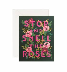 [Rifle Paper Co.] Stop and Smell the Roses Card