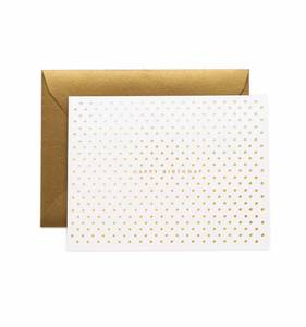 [Rifle Paper Co.] Gold Dots Birthday Card