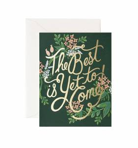 [Rifle Paper Co.] The Best is Yet to Come Card