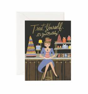 [Rifle Paper Co.] Treat Yourself Birthday Card