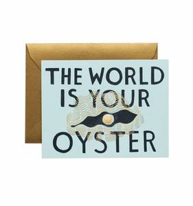 [Rifle Paper Co.] The World is Your Oyster Card